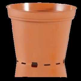 Цветочный горшок TEKU 0,16 л, d-7.5х5.8-h см Терракот