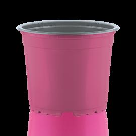 Цветочный горшок TEKU 0,29 л, d-9х6.8-h см Розовый