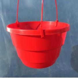 Подвесной горшок для цветов 3.7 л, Красный (Украина)