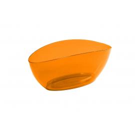Горшок кашпо «ЛУНА», прозрачный-оранжевый
