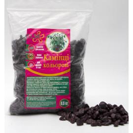 Камни декоративные фиолетовые, 0,5 кг