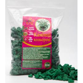 Камни декоративные зеленые, 0,5 кг