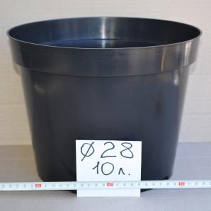 Горшок круглый 10 л (d-28, h-22 см) Donkwiat
